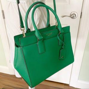 Kate spade medium satchel Cameron green bean new